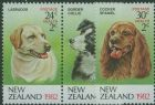 NZ SG1270a-2 Dogs health stamps set of 3 including pair perf 13x13½